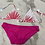 Thumbnail: Hot Pink Tropical Bikini with Sparkle Detail
