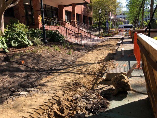 CMD Brick Walkway Under Construction