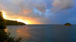 Sunrise sea view from the veranda