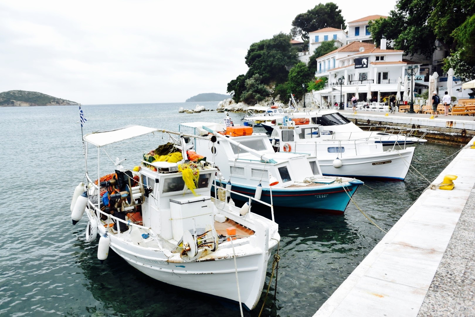The beautiful old port at Skiathos town