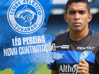 Léo Pereira é anunciado pelo Tubarão