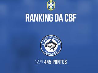 Tubarão ocupa 127ª colocação no ranking da CBF