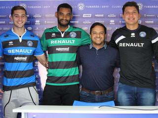 Neto Volpi, Jailton e Canavesio são apresentados na Vila