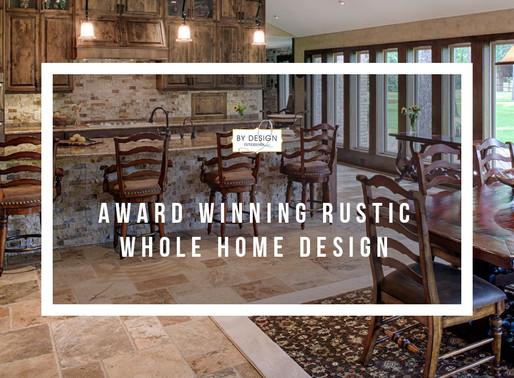 Award-winning rustic whole home design in Houston