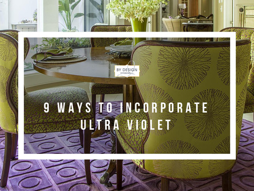 9 ways to incorporate Ultra Violet (color of the year 2018) into your home