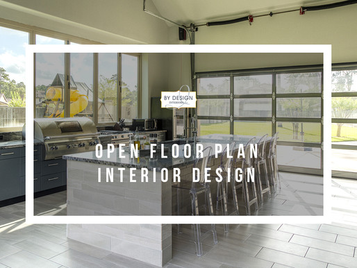 Open floor plan interior design in Houston