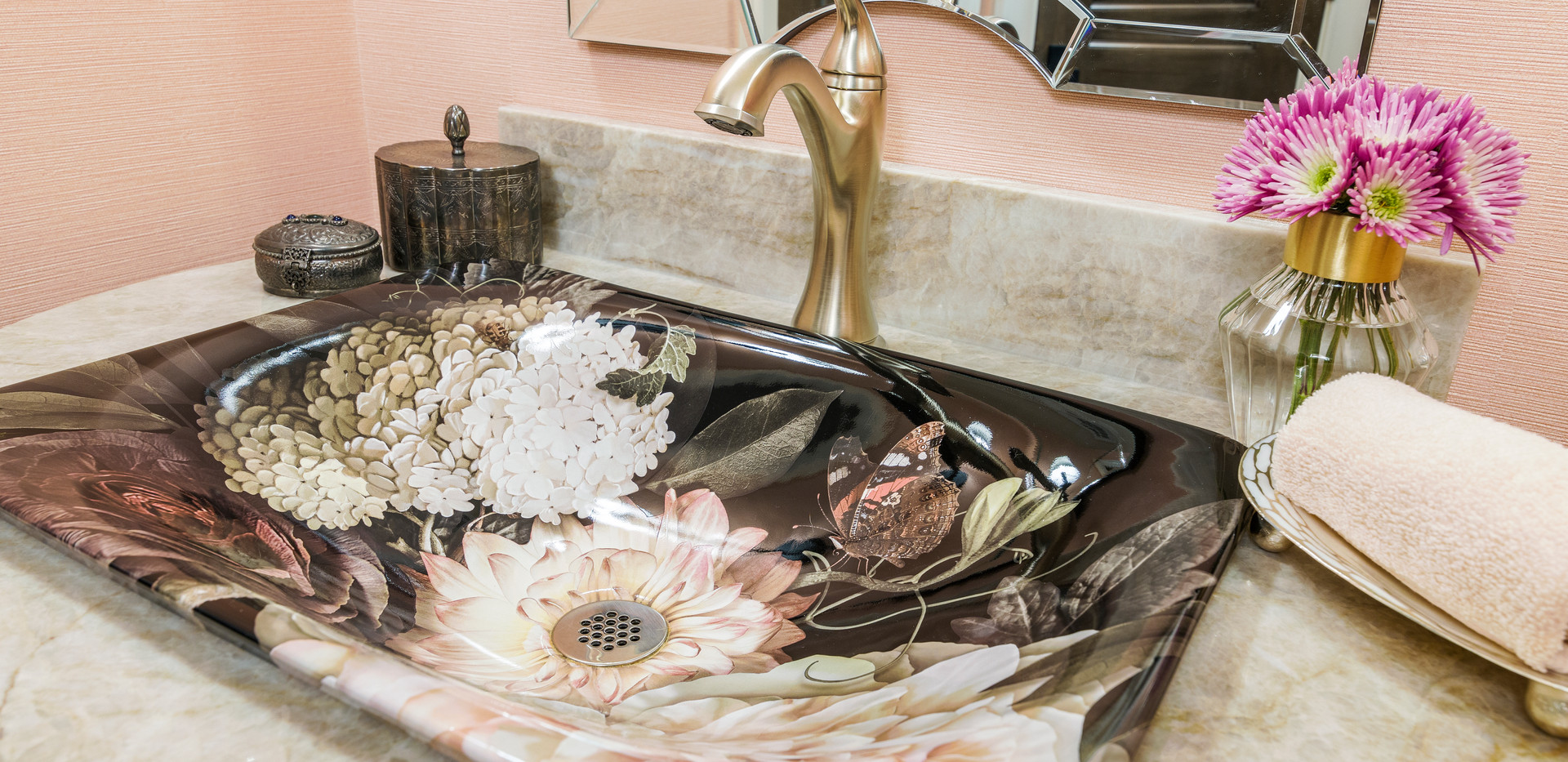 Floral Statement Sink