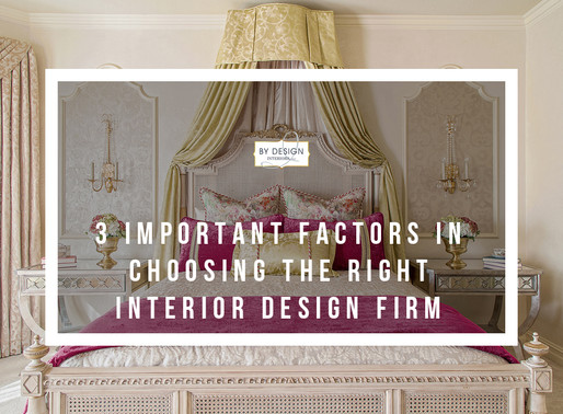3 Important Factors In Choosing The Right Houston Interior Design Firm