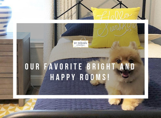 Our favorite bright and happy rooms!