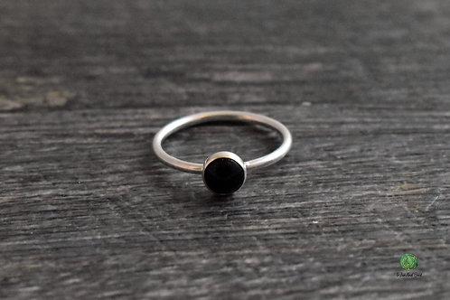 Onyx Gemstone Stacking Ring