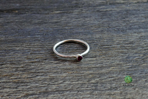 July Birthstone Ruby Stacking Ring