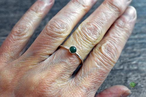 Aventurine Gemstone Stacking Ring