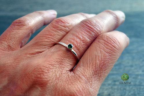 May Birthstone Emerald Stacking Ring