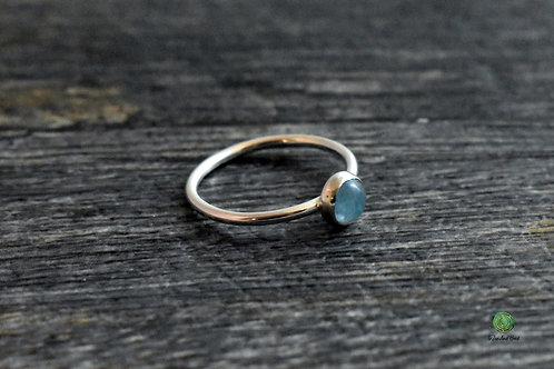 Aquamarine Gemstone Stacking Ring