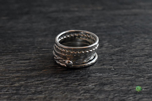 Shiny Mix and Match Stacking Rings