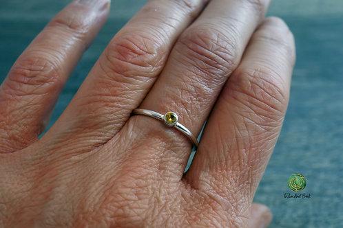 November Birthstone Topaz Stacking Ring