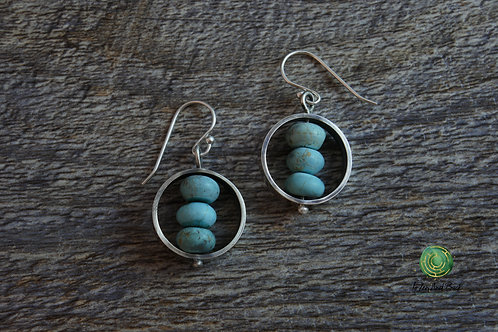Turquoise Magnesite and Sterling Silver Earrings