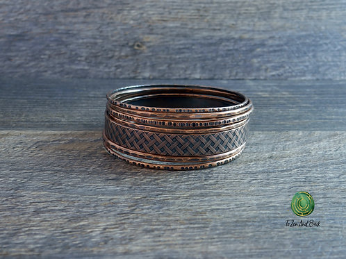 Copper Stacking Bangle Bracelets