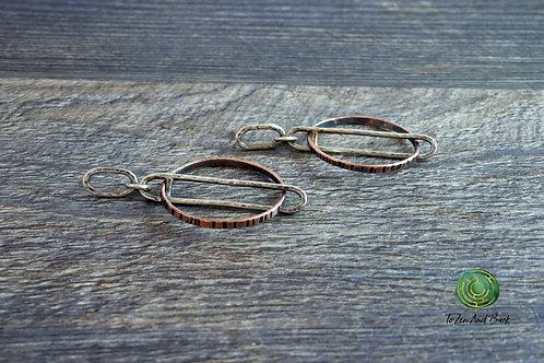 Free Floating Circle Earrings