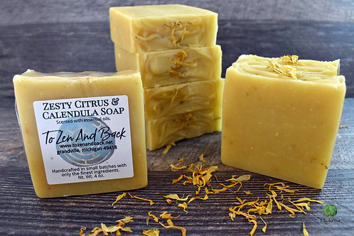 Zesty Citrus & Calendula Soap