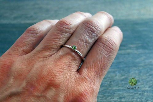 August Birthstone Peridot Stacking