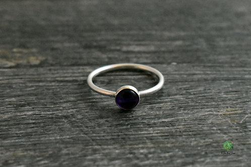 Amethyst Gemstone Stacking Ring