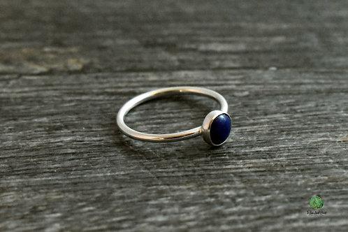 Lapis Lazuli Gemstone Stacking Ring