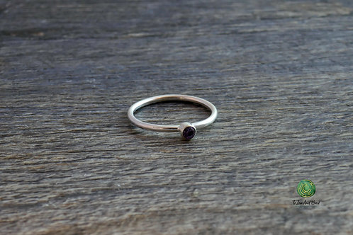June Birthstone Alexandrite Stacking Ring