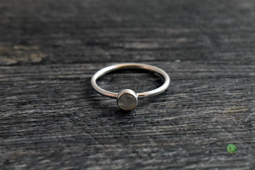 Moonstone Gemstone Stacking Ring