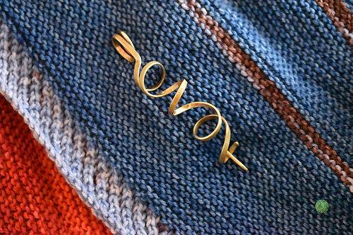 Brass Swirl Shawl Pin