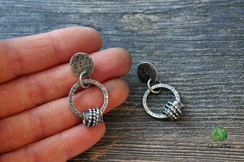 Boho Circle Post Earrings