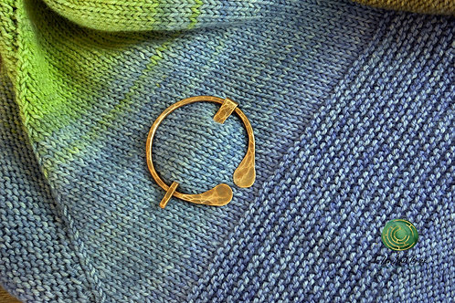 Recycled Copper Hammered Shawl Pin
