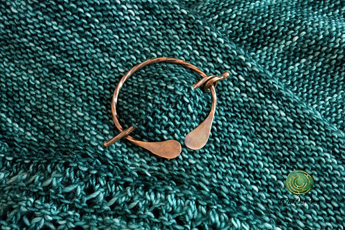 Recycled Copper Twisted  Shawl Pin