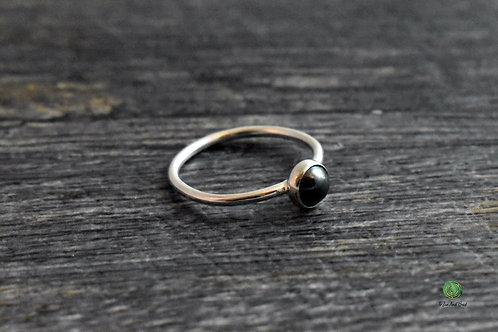 Hematite Gemstone Stacking Ring
