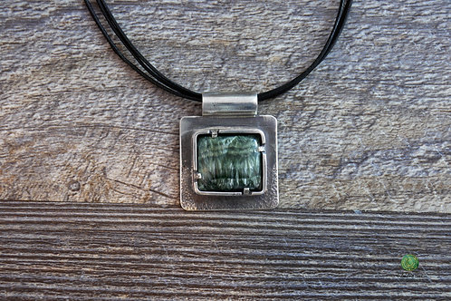 Seraphinite and Sterling Silver Necklace