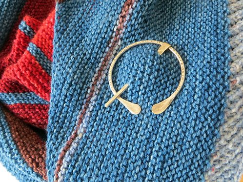 "Sterling Silver ""Birch Bark""Shawl Pin"