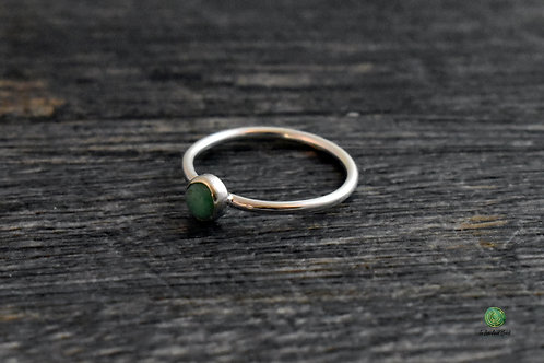 Chrysoprase Gemstone Stacking Ring