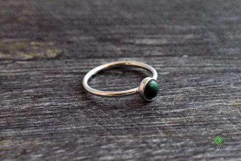 Malachite Gemstone Stacking Ring