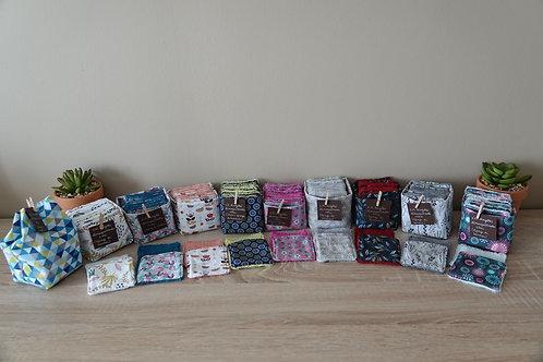 Lingettes lavables petit format motifs au choix