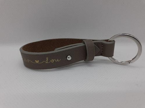 Porte-clé en cuir personnalisé