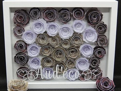 Cadre de fleurs de papier personnalisé