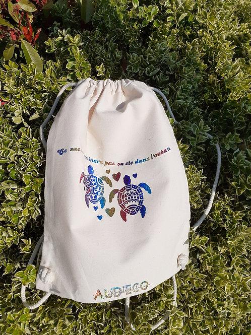 sac à dos en coton biologique, motifs écologie
