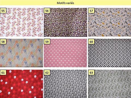 Tissus coton motifs divers   oeko-tex