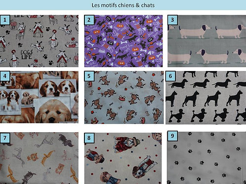 Tissus chiens & chats