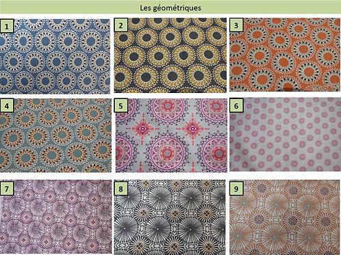 Tissus coton motifs géométriques   oeko-tex