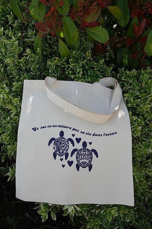 Sac de courses en coton biologique, motifs écologie