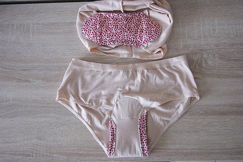 Insert pour culotte menstruelle de 20 à 28 cm fixés sur votre culotte