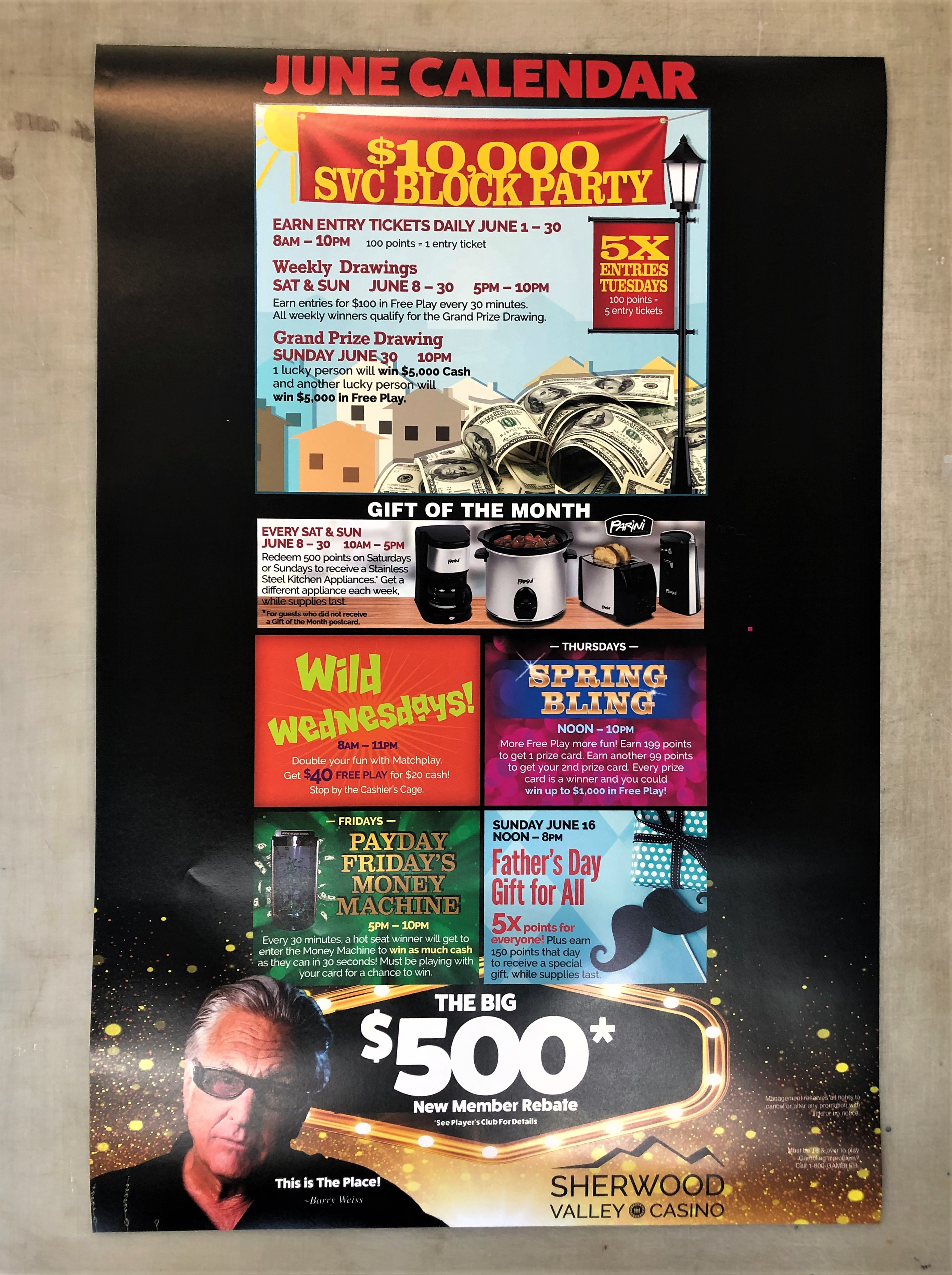Event Poster - Sherwood Valley Casino