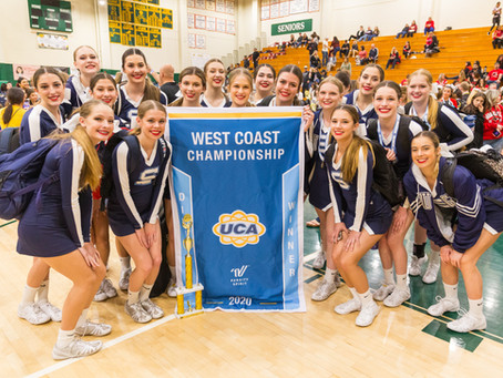 1st Place - UCA West Coast Championships - Varsity Competition