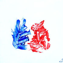 Red&Blue rabbit(2020) 50x50x2.JPG